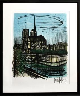 Bernard Buffet, Notre Dame, Lithograph