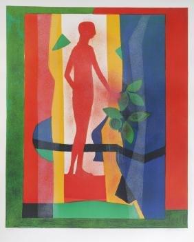 Andre Minaux, Au Jardin, Lithograph