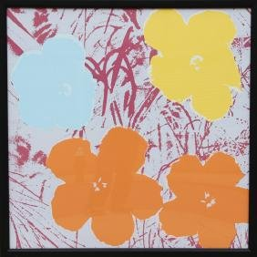 Andy Warhol, Flowers, Sunday B. Morning Silkscreen