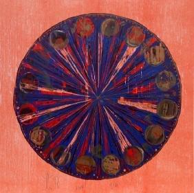 Tal R, The Hour, Woodcut Print