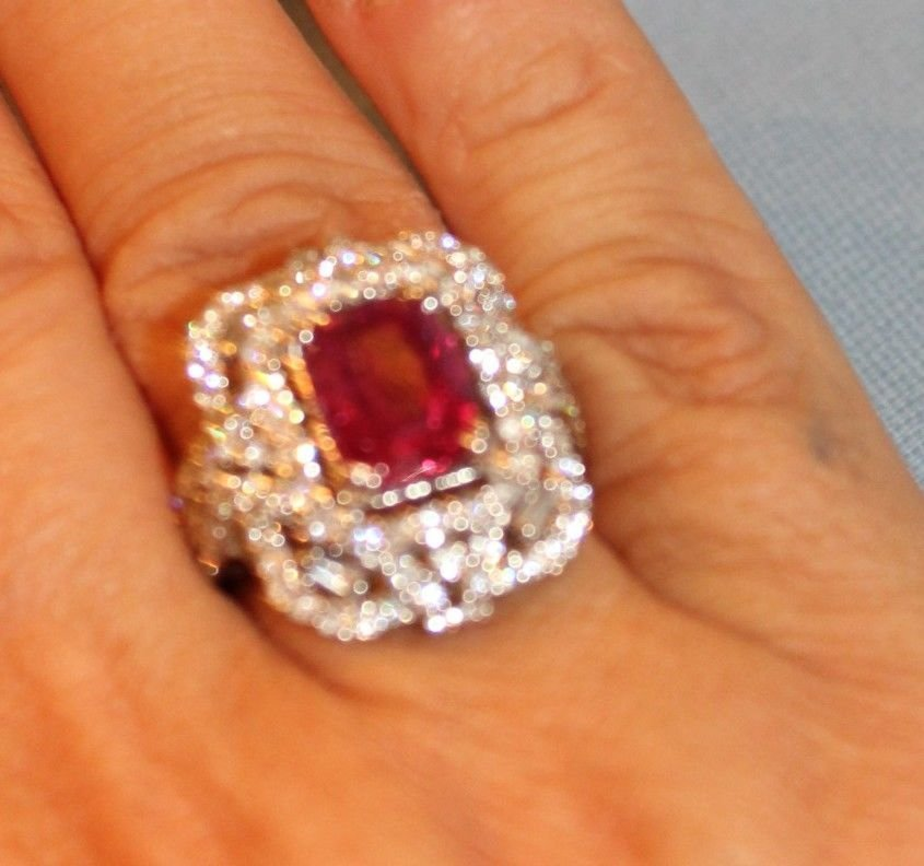 7 CT GRS CERTIFIED ESTATE UNHEATED (NO HEAT) RUBY RING - 3
