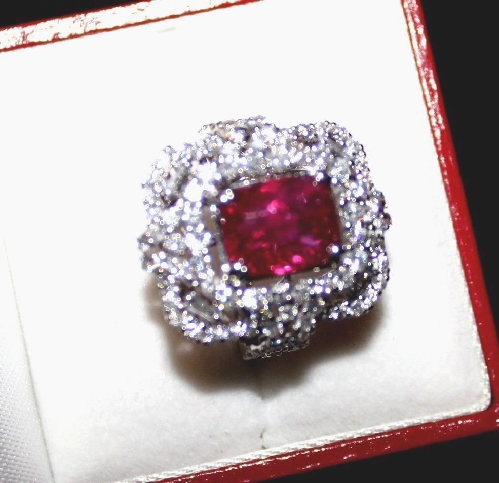 7 CT GRS CERTIFIED ESTATE UNHEATED (NO HEAT) RUBY RING - 4