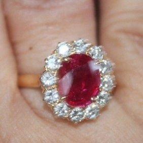 Unheated Burmese Ruby Certified