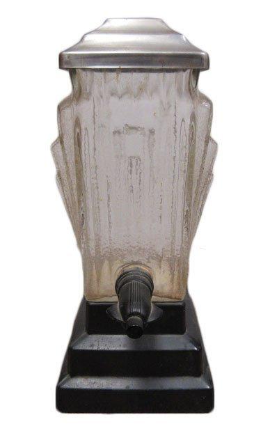 Art Deco Glass Fountain Dispenser