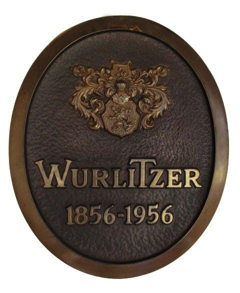 1956 Wurlitzer Centennial Jukebox Distributor Sign