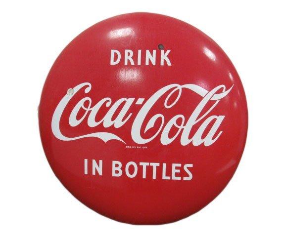 """36"""" Porcelain Drink Coca-Cola Button"""
