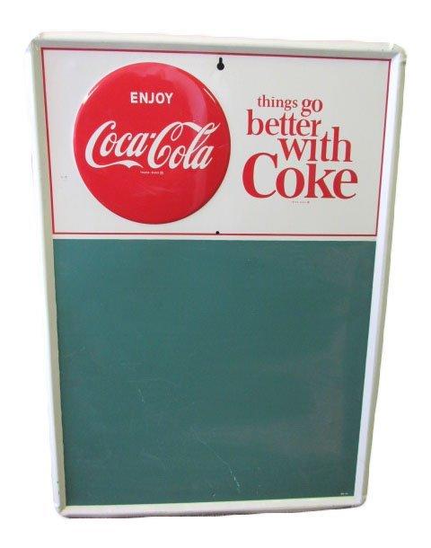 1954 Coca-Cola Menu Board