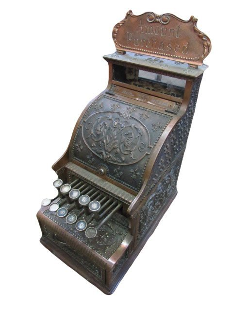 National Cash Register with Top Sign