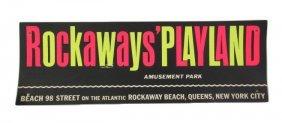 Rockaways Playland Cardboard Amusement Park Sign