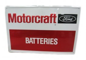 Ford Motorcraft Batteries Sign