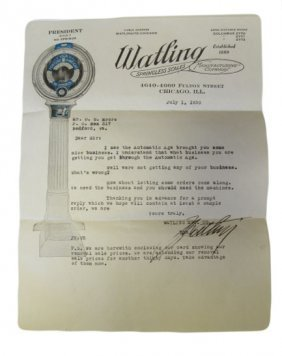 Original Letter From Watling Pertaining To Lollipop