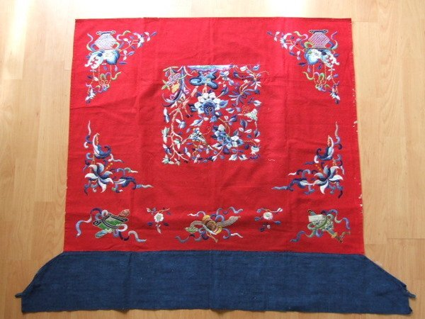 1A: Chinese Embroidered Altar Frontal C.1900