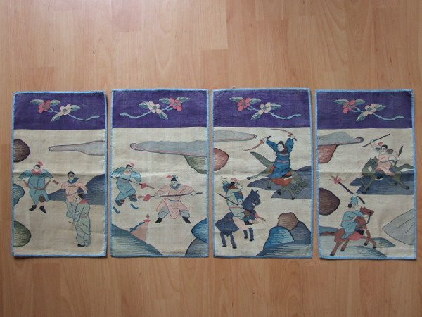 4A: 4 Chinese Kesi Panels 19th C.