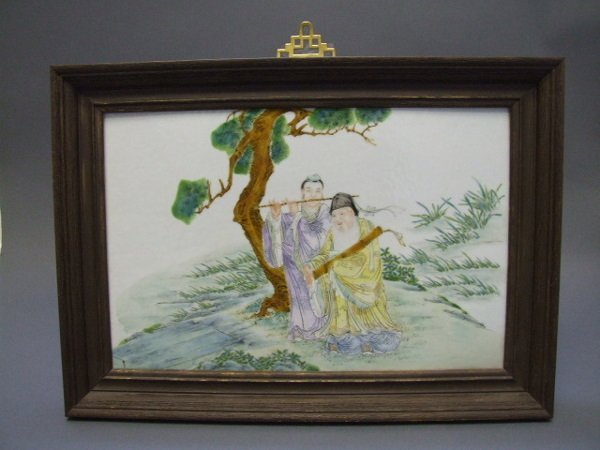 10A: Chinese Porcelain Plaque 19th C.