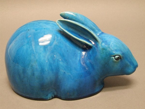 13A: Chinese Porcelain Rabbit C. 1900