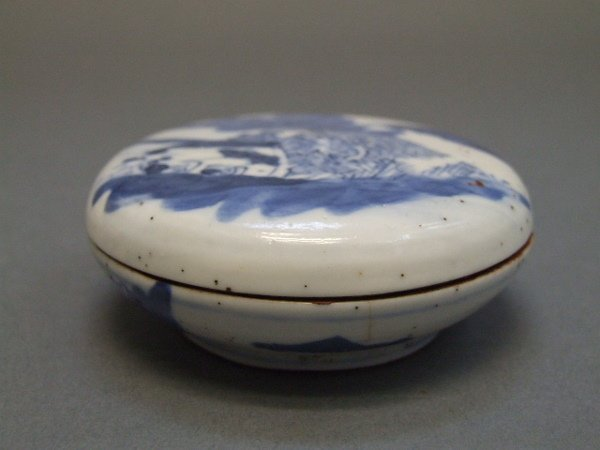 19A: Chinese Porcelain Seal Paste Box Kangxi Dynasty