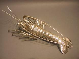 Japanese Silver Model Of A Crayfish