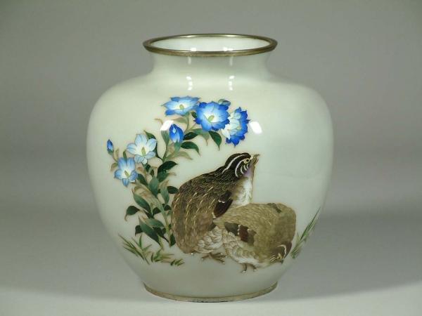 12: Japanese Tamura Cloisonne Vase
