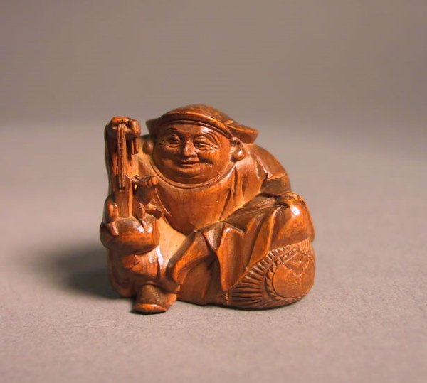 3: Japanese Wooden Figural Study