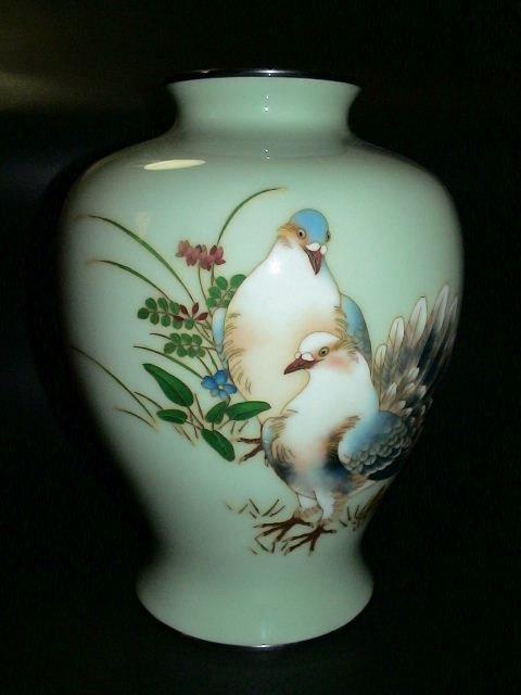 10: Japanese Ando Cloisonne Vase