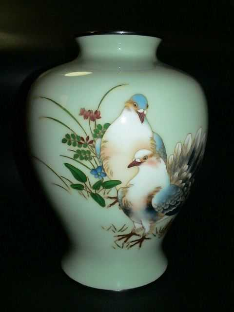 10 Japanese Ando Cloisonne Vase