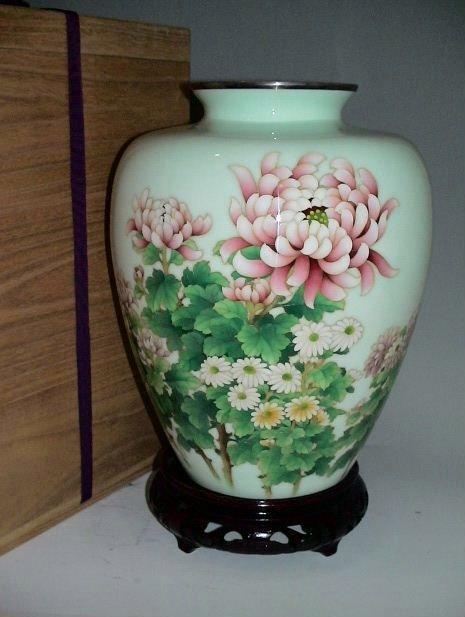 11: Japanese Ando Cloisonne Vase