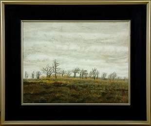 Japanese Framed Landscape Painting