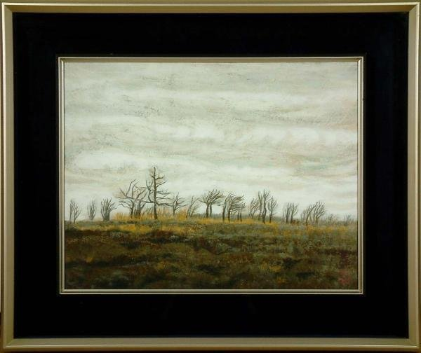 19: Japanese Framed Landscape Painting