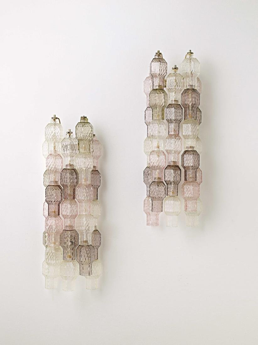 ARCHIMEDE SEGUSO - A PAIR OF WALL LIGHTS BY A. SEGUSO -