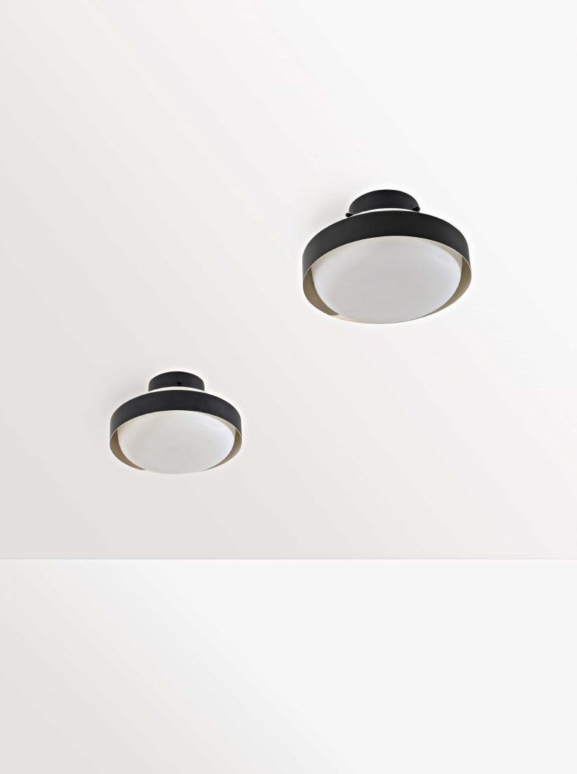 GINO SARFATTI - A CEILING LAMPS BY G. SARFATTI -
