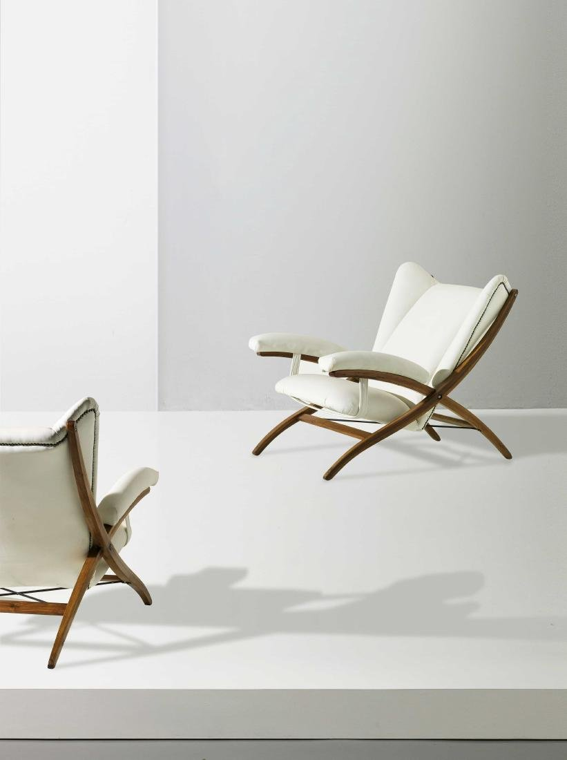 FRANCO ALBINI - A PAIR OF ARMCHAIRS BY F. ALBINI - 2