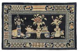 VECCHIO TAPPETO CINESE, BAOTOU, MONGOLIA INTERNA, 1920