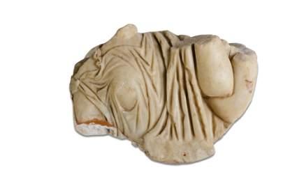 DUE ELEMENTI DECORATIVI IN MARMO, XVIII-XIX SECOLO