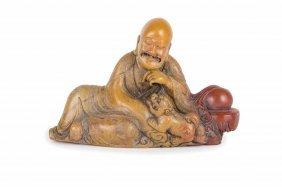 Figura Di Saggio In Pietra Saponaria, Cina, Dinastia