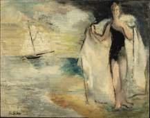 Alice Halicka, Figure on the Beach, Oil on Canvas
