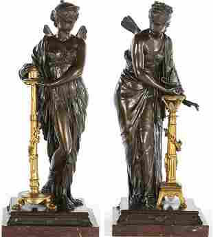 French School, Fairies of Light and Fire, Bronze