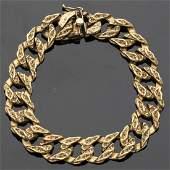 14K Gold Men's Chain Bracelet