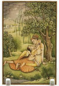 Indian Miniature of Lovers
