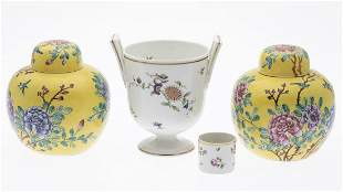4 Porcelain Articles Including Ginori