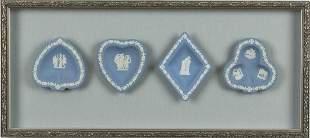 4 Framed Wedgwood Jasperware Articles