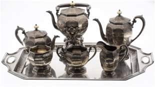 Gorham 6 Piece Sterling Tea Service w/ Sterling Tray