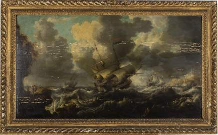 Bonaventura Peeters I, Sea Scape, Oil on Panel, 17th C