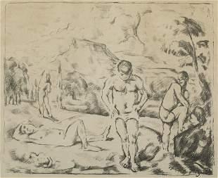 Paul Cezanne, Large Bathers, Lithograph