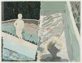 Jennifer Losch Bartlett, Angel and Pool, Lithograph