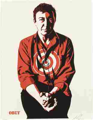 Shepard Fairey, Jasper Johns, Cream edition, 91/450