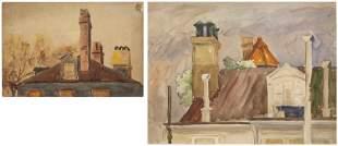 Christopher P.H. Murphy, Two Rooftop Scenes, W/C