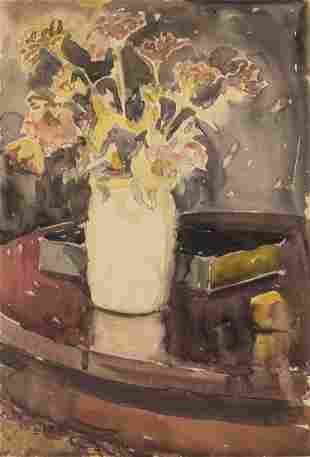 Christopher P.H. Murphy, Flower Still Life, W/C