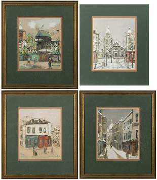 Maurice Utrillo, Four Lithographs