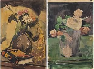 Christopher P.H. Murphy, Two Floral Still Lifes,Â