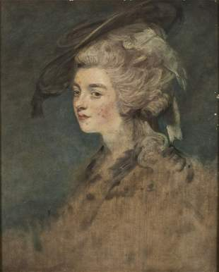 British School, Portrait of a Woman, 18th/19th C.